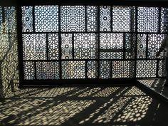 Timber Lattices, Alubaf Bank, Bahrain AGID Design Consultants