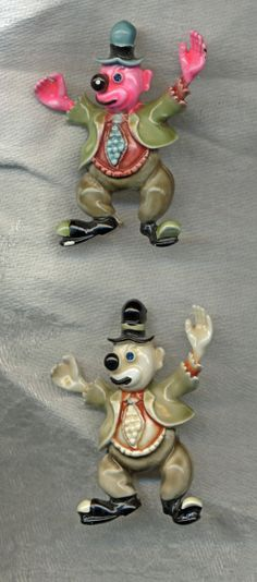 HAR LOT Enameled Clown Brooches by KattslairVintage on Etsy, $125.00