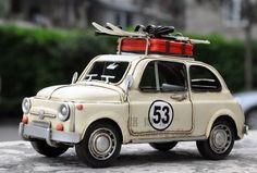 1957年菲亚特 可爱复古手工铁皮车模型 老爷车模型 儿童礼品包邮-淘宝网