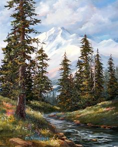 """Grand Alaska - Denali View"" - Originals - All Artwork - Melinda Nemechek | Fine Art World"