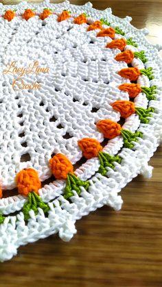Filet Crochet, Crochet Motif, Diy Crochet, Crochet Designs, Crochet Doilies, Crochet Top, Crochet Patterns, Crochet Table Runner, Crochet Kitchen
