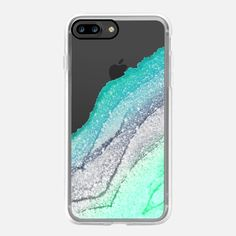 FLAWLESS SEAFOAM FAUX GLITTER by Monika Strigel - Classic Snap Case