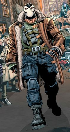Bane by Scot Eaton. This is what he should've looked like in Dark Knight Rises.