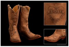 Aggie Mom Boots by Nocona Boots! Proceeds generated used to fund scholarships and support organizations and causes at Texas A&M.