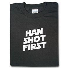 ThinkGeek :: Han Shot First