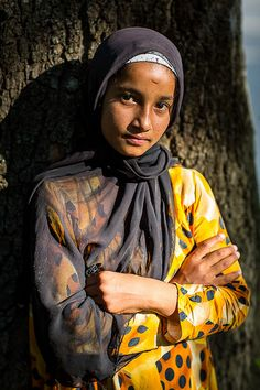 Girl in traditional dress from Tajikistan