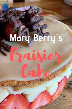 What better way to kick of strawberry season that with Mary Berry´s Fraisier cake? Sponge Cake Easy, Sponge Cake Recipes, British Baking Show Recipes, Baking Recipes, British Desserts, Mary Berry, Genoise Sponge Cake Recipe, Just Desserts, Dessert Recipes