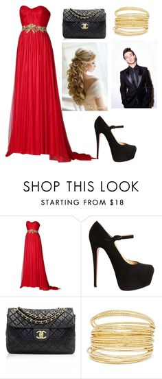 """""""Prom with Cameron Dallas"""" by yourfashionbabe ❤ liked on Polyvore featuring Marchesa, Christian Louboutin and Chanel"""