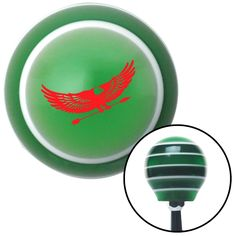 Red Eagle with Arrow Green Stripe Shift Knob with M16 x 15 Insert - Give your interior the ultimate look. American Shifter's Elite(TM) series shift knobs are made from the highest quality components resulting in a superior feel on every shift. Each shift knob is designed and customized in the USA by skilled shift knob artisans who have a trained eye on every detail. American Shifters shift knobs offers an exclusive aluminum threaded insert designed to be screwed onto your shift arm. You…
