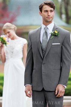 Asheville Tuxedo by Mitchell's - 'Dillon' - Medium Grey - Slim ...