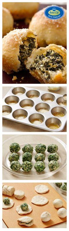 Spinach Dipped Garlic Rolls