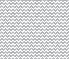 White and Gray Chevrons fabric by littlebdesigns on Spoonflower - custom fabric