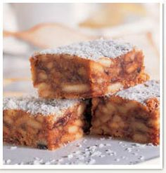 south african coconut and date bars