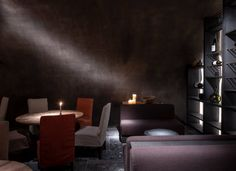 Belgian designer Axel Vervoordt has designed hotel suites in the past (see On Top of the World: A Belgian Antiquarian Designs a Penthouse in NYC), but his Wabi Sabi, Angle Of Repose, Axel Vervoordt, Ensuite Bathrooms, Red Walls, Hotel Suites, Guest Suite, Restaurant, Large Windows