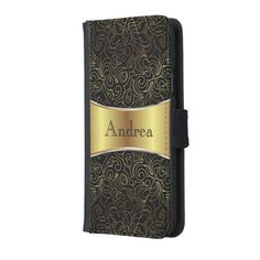 SOLD Wallet Case Samsung S5 Floral Abstract Damasks! #zazzle #wallet #case #samsung #samsungs5 #floral #abstract #damasks #gold #black http://www.zazzle.com/wallet_case_samsung_s5_floral_abstract_damasks-256995029347237945