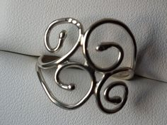 Filigree sterling silver ring by LaMissBijoux on Etsy