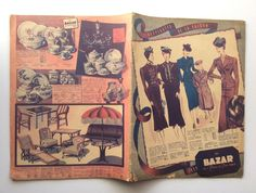 Vintage 1930s French CATALOGUE Fashion Magazine by Thepapermuseum