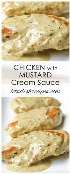 Chicken with Mustard Cream Sauce Recipe | This easy chicken dish, with a creamy mustard sauce, is on the table in about 20 minutes! #chicken