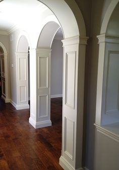 Love the detailed trim work.  click through to the blog to see the before photo!!
