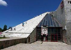 Kids on the derelict Pyramid, Tiranë.  (John H, Jun 2010) #Albania