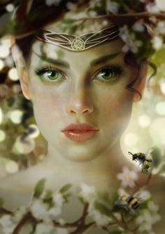 Sue Marino  'Freya'  Photoshop  February 2013  		  Spring is coming!  Painted in photoshop with Wacom.