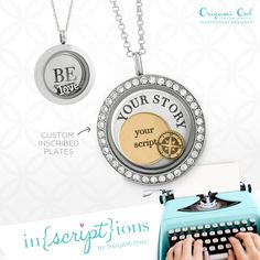Tell your story #locket #charms #origamiowl #buzzyourstory