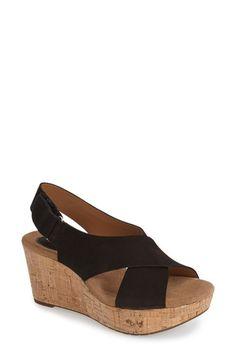 Clarks® 'Caslynn Shae' Wedge Sandal (Women) available at #Nordstrom