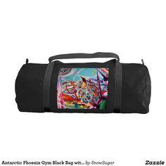 Antarctic Phoenix Gym Black Bag with Black straps Gym Duffle Bag #zazzle #bag #gymbag #bigbag #designbag #KennethBurris #visualart #formen #forhim #phoenix #painting #NYC #NYCartist #NYCpainter #snowsugarvideo
