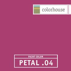 Colorhouse PETAL .04: Designed as an accent to be used as color spots, such as stripes. A great color for kids playrooms or if you want lots of drama – it can be a smashing color on four walls – very bold.