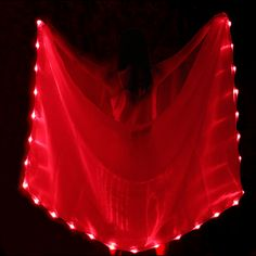 Red LED veil - you can also wear it as a cape or shawl in a party.