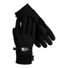 The North Face Powerstretch Mens Casual Gloves Reinforced Thenar Portion of Thumb. North Face Logo on Front Side of Gloves. The North Face, North Face Women, Fleece Gloves, Mens Gloves, Running In Cold Weather, Pom Pom Beanie Hat, Beanie Hats, Outdoor Outfit, Stretch Fabric