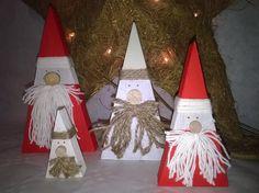 Pères Noël en bois * décoration de Noël * : Accessoires de maison par ptitecrea