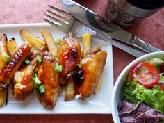 Delicious caramelized easy chicken wings baked in honey and soy sauce