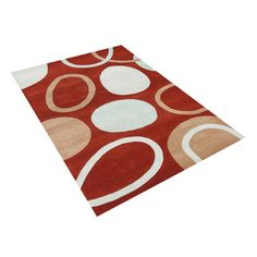 Wildon Home ® Andri  Hand-Tufted Red Area Rug