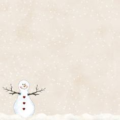 GrannyEnchanted.Com-Paper: Free Snowing Cream Digi Scrapbook Paper