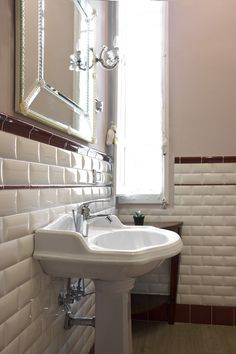 Luxury Ceramic Tiles Bathroom Brick In Bathroom Luxury Ceramic Tile Bathroom Wall White Wall Bone Ceramic Tile Bathrooms, Small Bathroom Sinks, Bath Tiles, Bathroom Wall, Bathroom Modern, Bathroom Ideas, Room Wall Tiles, Bathroom Design Layout, Vintage Tile