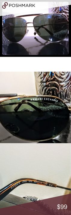 2df8c202477 Auth Armani Exchange Aviator Sunglasses 👓 Armani Exchange unisex aviator  sunglasses for men women or anyone in between. So Top Gun.