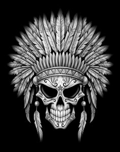 Best Seller - - Dark Native Sugar Skull with Headdress iPad Smart Cover You are in the right place about Best Seller - Indian Skull Tattoos, Skull Rose Tattoos, Native American Tattoos, Native American Art, Lettrage Chicano, Chicano Tattoos, Tattoo Drawings, Art Drawings, Indian Tattoo Design