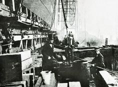 The deck of Isambard Kingdom Brunel's Great Eastern steamship. At its launch in the vessel was the largest ship ever built. History Of Photography, Vintage Photography, Isambard Kingdom Brunel, London Metropolitan, History Photos, Tall Ships, Portsmouth, Nautical Theme, Historical Photos