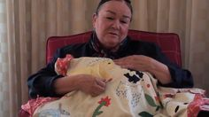 Patricia Polacco shows the REAL keeping quilt and talks about it - and how she played with it as a child! (3:35)