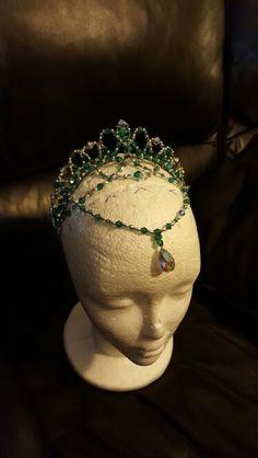 Crystal Ballet Tiara, Green and Silver for La Esmeralda, by Michelle Fabrega