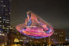 As If It Were Already Here Boston installation by Janet Echelman  rope instalation