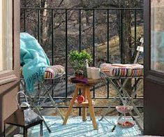 Small Balcony Simple and Affordable Designs the Perfect Line Balcony Furniture, Outdoor Furniture Sets, Outdoor Decor, Small Outdoor Spaces, Small Patio, Porch And Balcony, Balcony Ideas, Balcony Decoration, Balkon Design