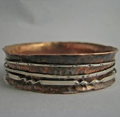 Copper Spinner Bangle by UmbilicusDesigns on Etsy