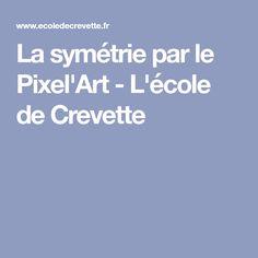 La symétrie par le Pixel'Art - L'école de Crevette
