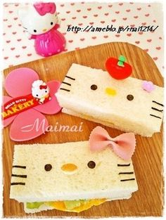 Hello kitty sandwich-@INDI design design Interiors, I think Addison wants this for lunch!