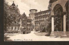 n504 Germany Heidelberg Der Schlosshof 1910 Edm. von Konig. unposted Lithograph