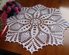 crochet round lace doily white cotton placemat crochet napkin centerpiece handmade home decor wedding unique birthday easter gift for mom
