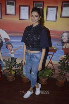 Deepika Padukone during a promotional event for her film 'Piku'.