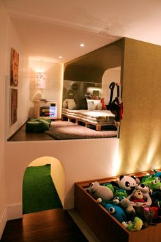 kid's bedroom with hidden passage